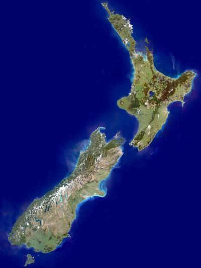New Zealand, Satellite Image-PLANETOBSERVER-Photographic Print