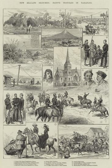 New Zealand Sketches, Native Troubles in Taranaki--Giclee Print