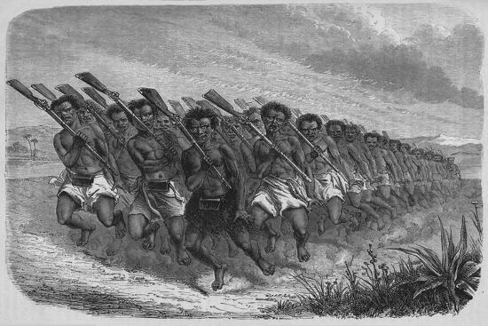 'New Zealand War-Dance', c1880-Unknown-Giclee Print