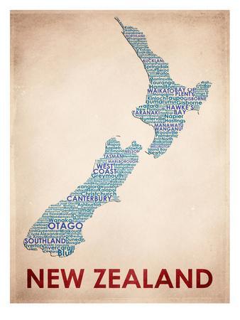 New Zealand--Art Print