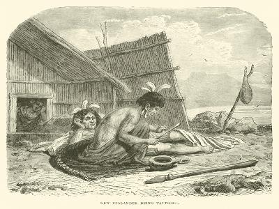 New Zealander Being Tattooed--Giclee Print