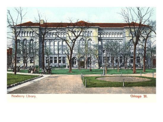 Newberry Library, Chicago, Illinois--Art Print