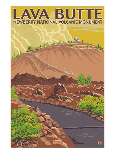 Newberry National Volcanic Monument, Lava Butte-Lantern Press-Art Print