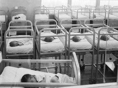 Newborn Baby Cribs in Hospital Nursery-H^ Armstrong Roberts-Photographic Print