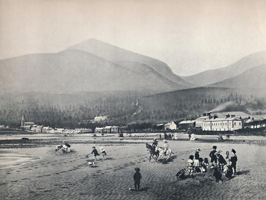 'Newcastle, Co. Down. - The Strand, with Slieve Donard', 1895-Unknown-Photographic Print