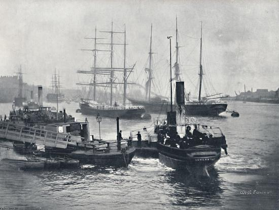 'Newcastle-On-Tyne - View on the Tyne', 1895-Unknown-Photographic Print