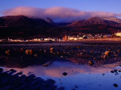 Newcastle Seafront and the Mourne Mountains at Dawn, Newcastle, Northern Ireland-Gareth McCormack-Photographic Print