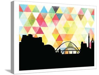 Newcastle Triangle-Paperfinch 0-Stretched Canvas Print