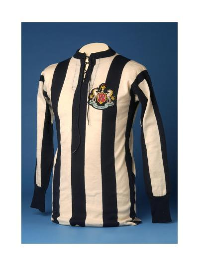 Newcastle United Jersey from the 1911 FA World Cup Final, 1911-English School-Giclee Print