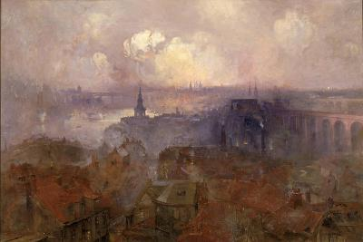 Newcastle Upon Tyne from the East, 1898-Niels Moller Lund-Giclee Print