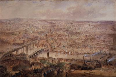 Newcastle Upon Tyne in the Reign of Queen Victoria (W/C on Paper (On Card))-John Storey-Giclee Print