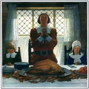 """""""An Early Thanksgiving,""""November 1, 1926 by Newell Convers Wyeth"""