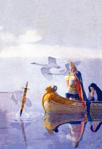 Arthur and Excalibur by Newell Convers Wyeth
