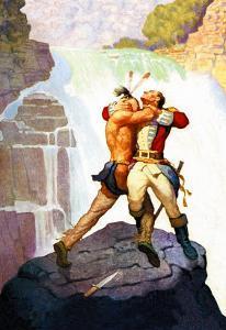 Battle of Glen Falls by Newell Convers Wyeth