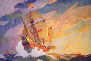 Columbus Crossing the Atlantic, 1927 by Newell Convers Wyeth