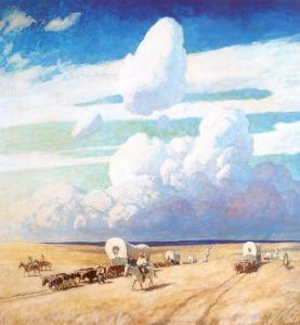 Covered Wagons, 1940 by Newell Convers Wyeth