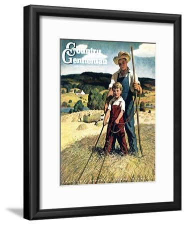 """""""Father and Son on Hay Wagon,"""" Country Gentleman Cover, June 1, 1944"""