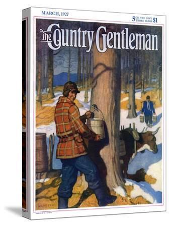 """""""Gathering Maple Syrup,"""" Country Gentleman Cover, March 1, 1927"""