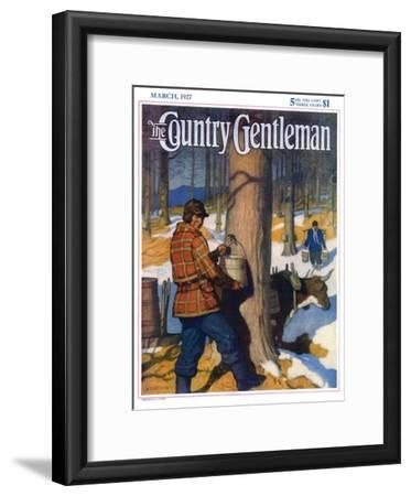 """Gathering Maple Syrup,"" Country Gentleman Cover, March 1, 1927"