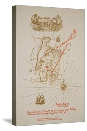Map of Treasure Island, an illustration from 'Treasure Island' by Robert Louis Stevenson