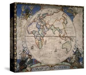 N.C. Wyeth Painting of the Eastern Hemisphere by Newell Convers Wyeth