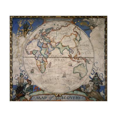 N.C. Wyeth Painting of the Eastern Hemisphere