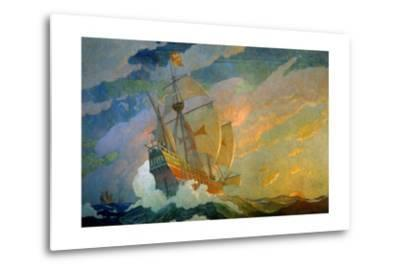 N.C. Wyeth Painting, the Caravels of Columbus