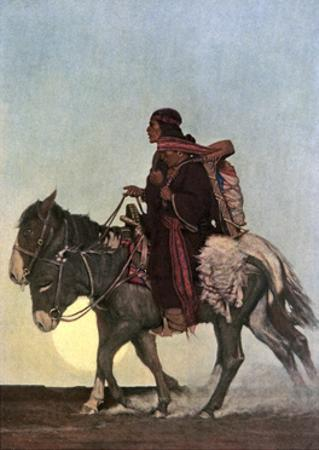 On the October Trail, Early 20th Century by Newell Convers Wyeth