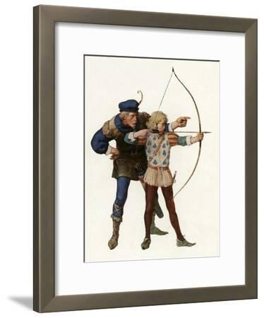 Robin Hood Trains Young Archer