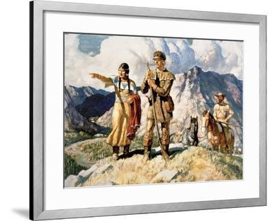 Sacagawea with Lewis and Clark During Their Expedition of 1804-06