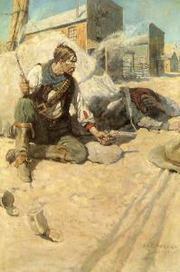 Sitting Up Cross-Legged, 1906 by Newell Convers Wyeth