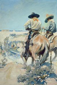 Supply Wagons, 1905 by Newell Convers Wyeth