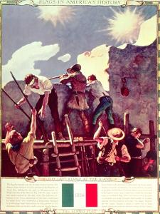 The Last Stand at the Alamo, 6th March 1836 (Illustration) by Newell Convers Wyeth