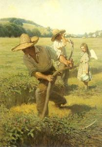 The Scythers, 1908 by Newell Convers Wyeth