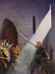 Wallace Draws the King's Sword by Newell Convers Wyeth