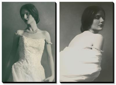 Newest Necklace and Classic Portraits in White-Malgorzata Maj-Canvas Art Set