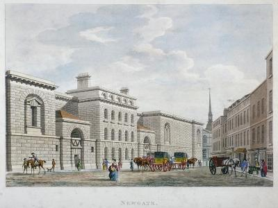 Newgate Prison, Old Bailey, City of London, 1799--Giclee Print