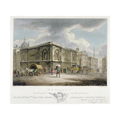Newgate Prison, Old Bailey, City of London, 1800-Thomas Medland-Giclee Print