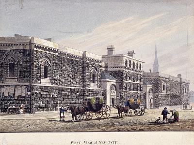 Newgate Prison, Old Bailey, London, C1815-George Shepherd-Giclee Print