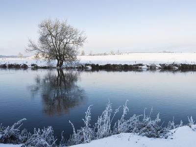 Newgrange and the River Boyne in Winter; Boyne Valley, County Meath, Ireland-Design Pics Inc-Photographic Print