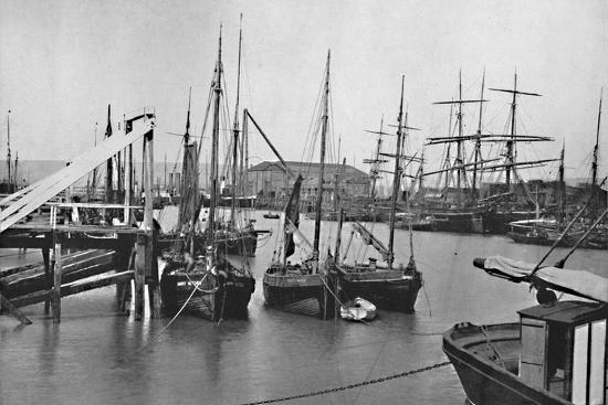 'Newhaven - In the Harbour', 1895-Unknown-Photographic Print