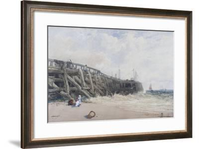 Newhaven Old Pier-William Roxby Beverly-Framed Giclee Print