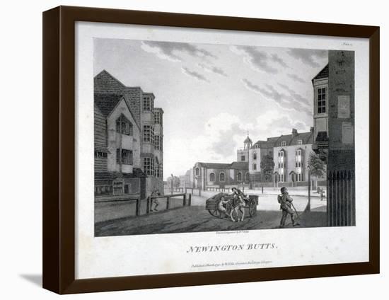 Newington Butts, Southwark, London, 1792-William Ellis-Framed Stretched Canvas Print