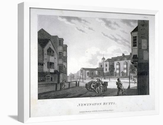 Newington Butts, Southwark, London, 1792-William Ellis-Framed Premier Image Canvas