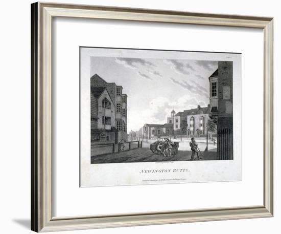 Newington Butts, Southwark, London, 1792-William Ellis-Framed Giclee Print