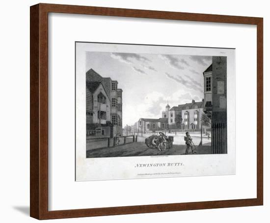 Newington Butts, Southwark, London, 1792-William Ellis-Framed Giclee Print