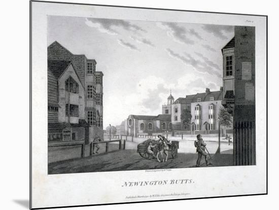 Newington Butts, Southwark, London, 1792-William Ellis-Mounted Giclee Print