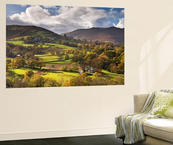 Newlands Chapel Nestled in the Beautiful Newlands Valley, Lake District, Cumbria-Adam Burton-Wall Mural