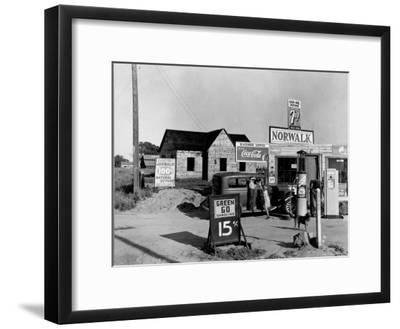 Newly Built Store and Trading Center, Typical of New Shacktown Community-Dorothea Lange-Framed Premium Photographic Print