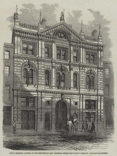 Newly-Erected Offices of the Peninsular and Oriental Steam Navigation Company, Leadenhall-Street--Giclee Print